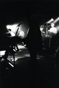 Molotov Cocktail performing at Stages Nightclub, Kingston, Ontario. Photo by Stephen Wild. c.1989