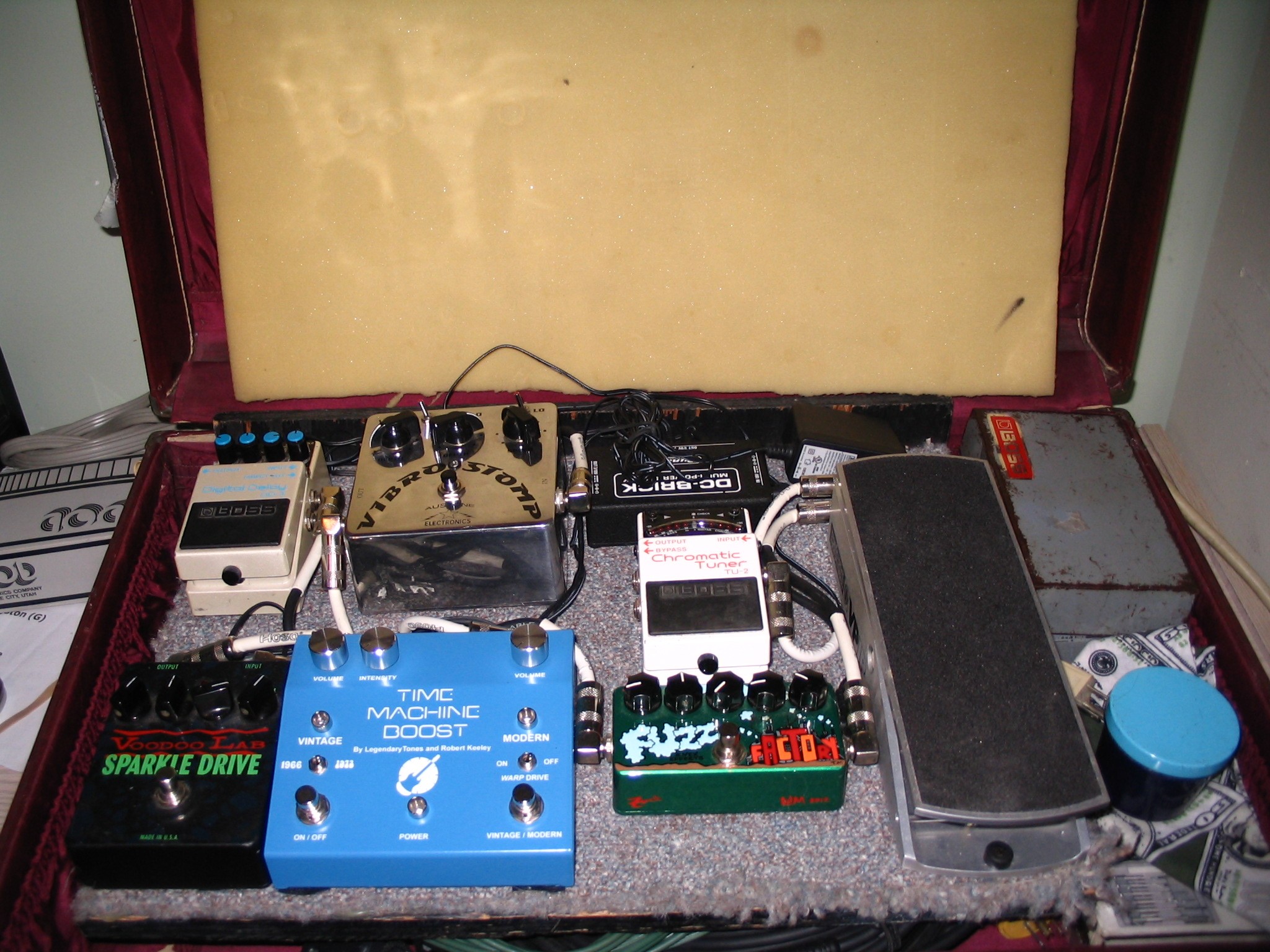Guitar Effects fx Pedal Board