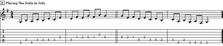 """Running the G Major Scale in """"Thirds""""."""