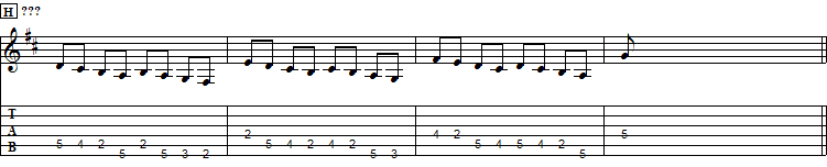 Mystery Sequence, D Major, II pos.
